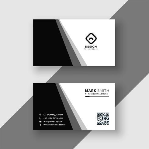 elegant svartvitt visitkort mall