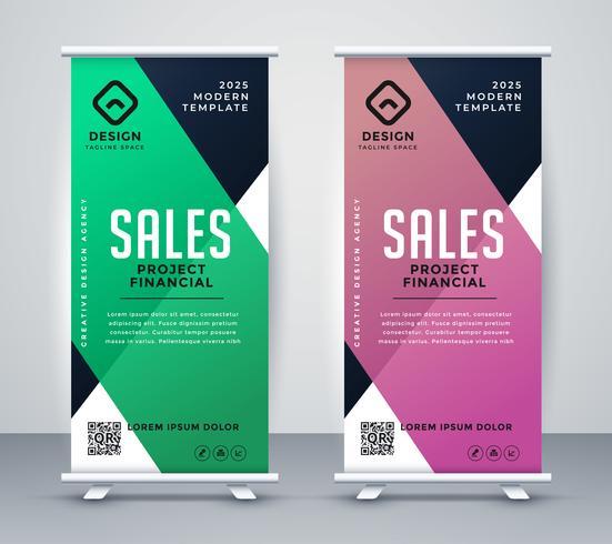 Geschäft rollen Banner oder Stand-Design-Vorlage