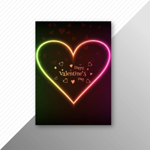 Vacker valentins dag kort mall design vektor