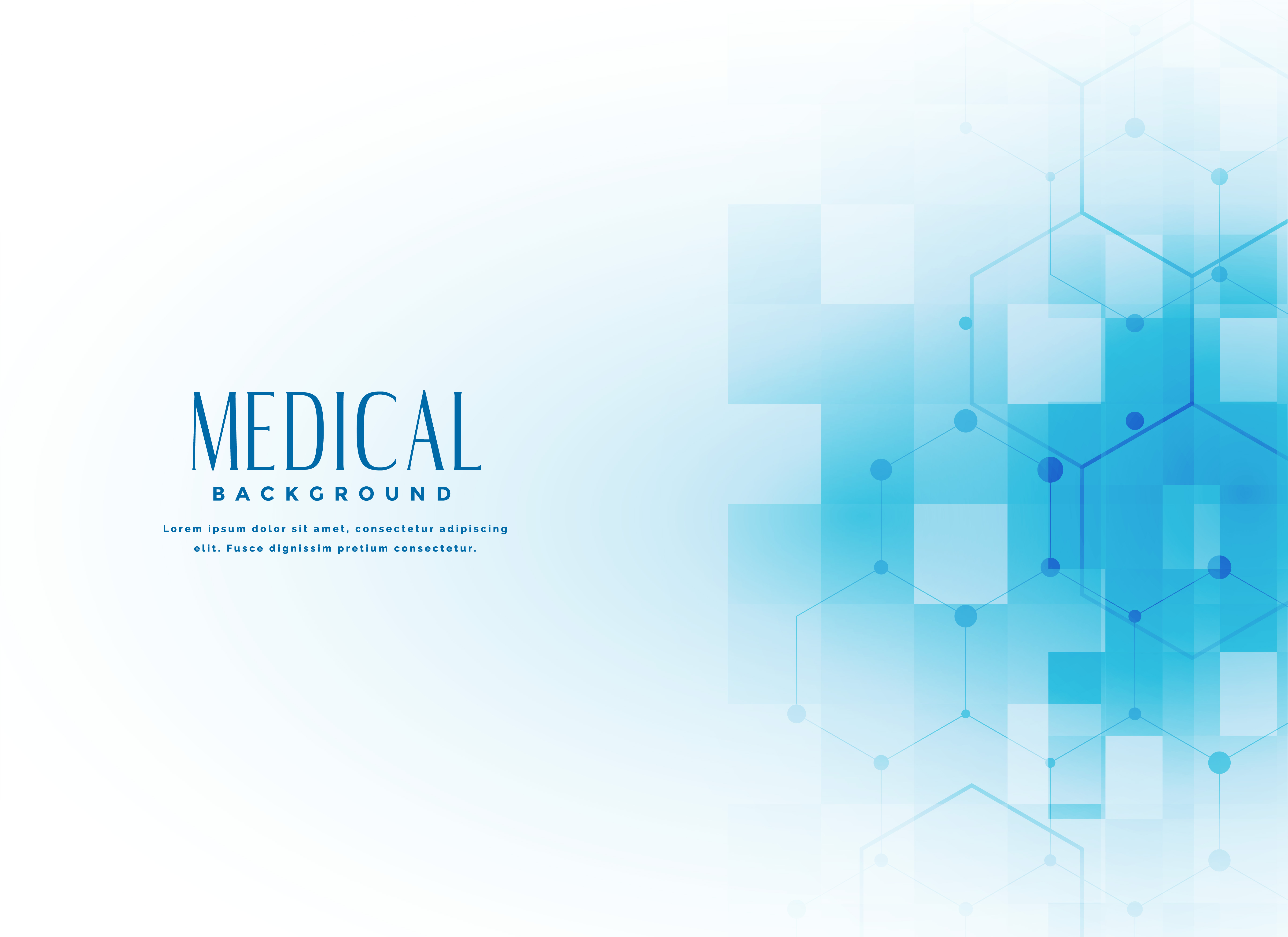Medical Science Background In Blue Color Download Free