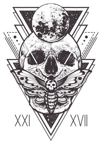Cráneo Diseño Geometría Sagrada