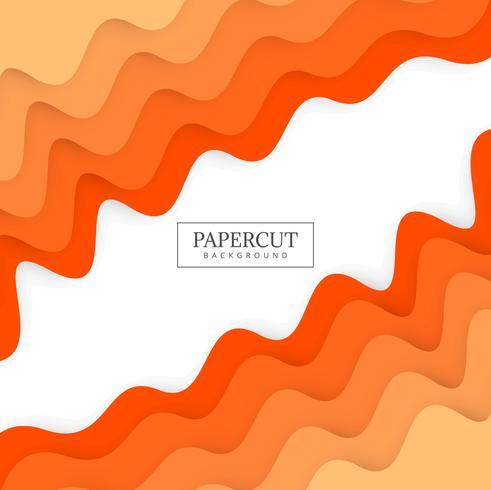 Papercut colorful wave colorful design illustration