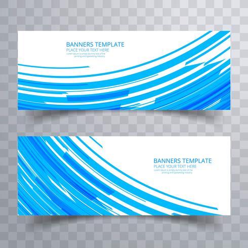 Abstracte kleurrijke heldere headers geplaatst ontwerp