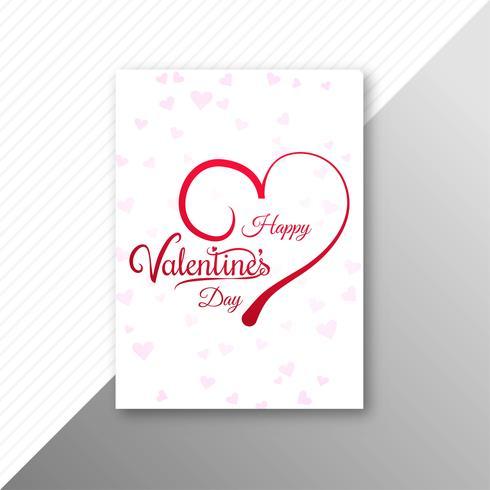 Vacker valentins dag kort broschyr mall bakgrund