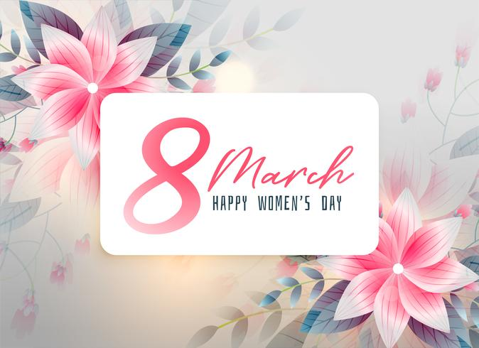 beautiful happy women's day flower background