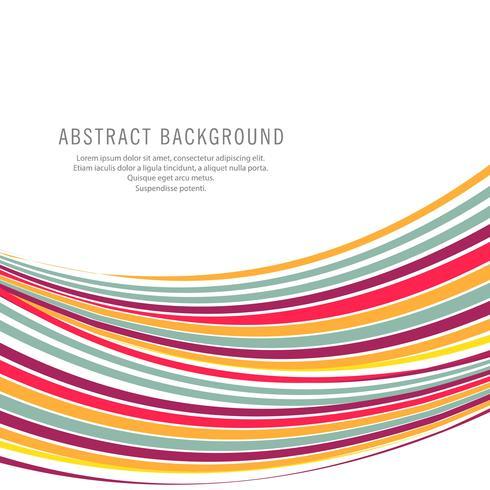 Abstracte kleurrijke creatieve golf op witte achtergrond