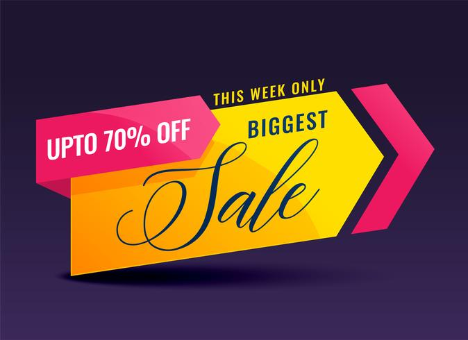 kreativ försäljning banner för marknadsföring och marknadsföring