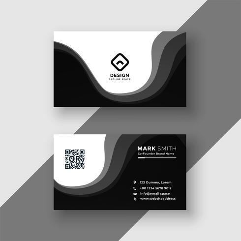 plantilla de tarjeta de visita negro moderno