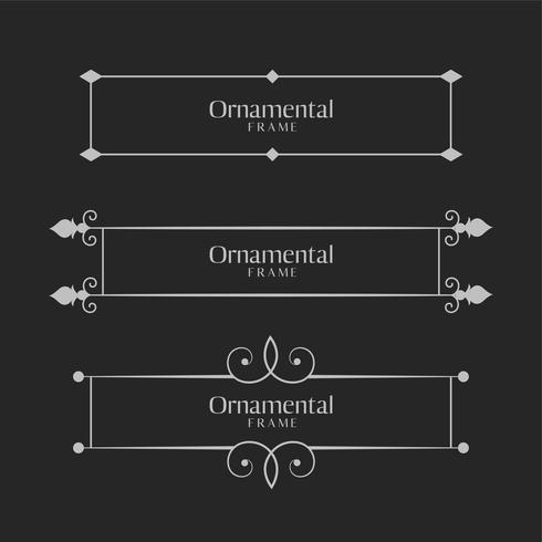 ornamental decorative frame borders set