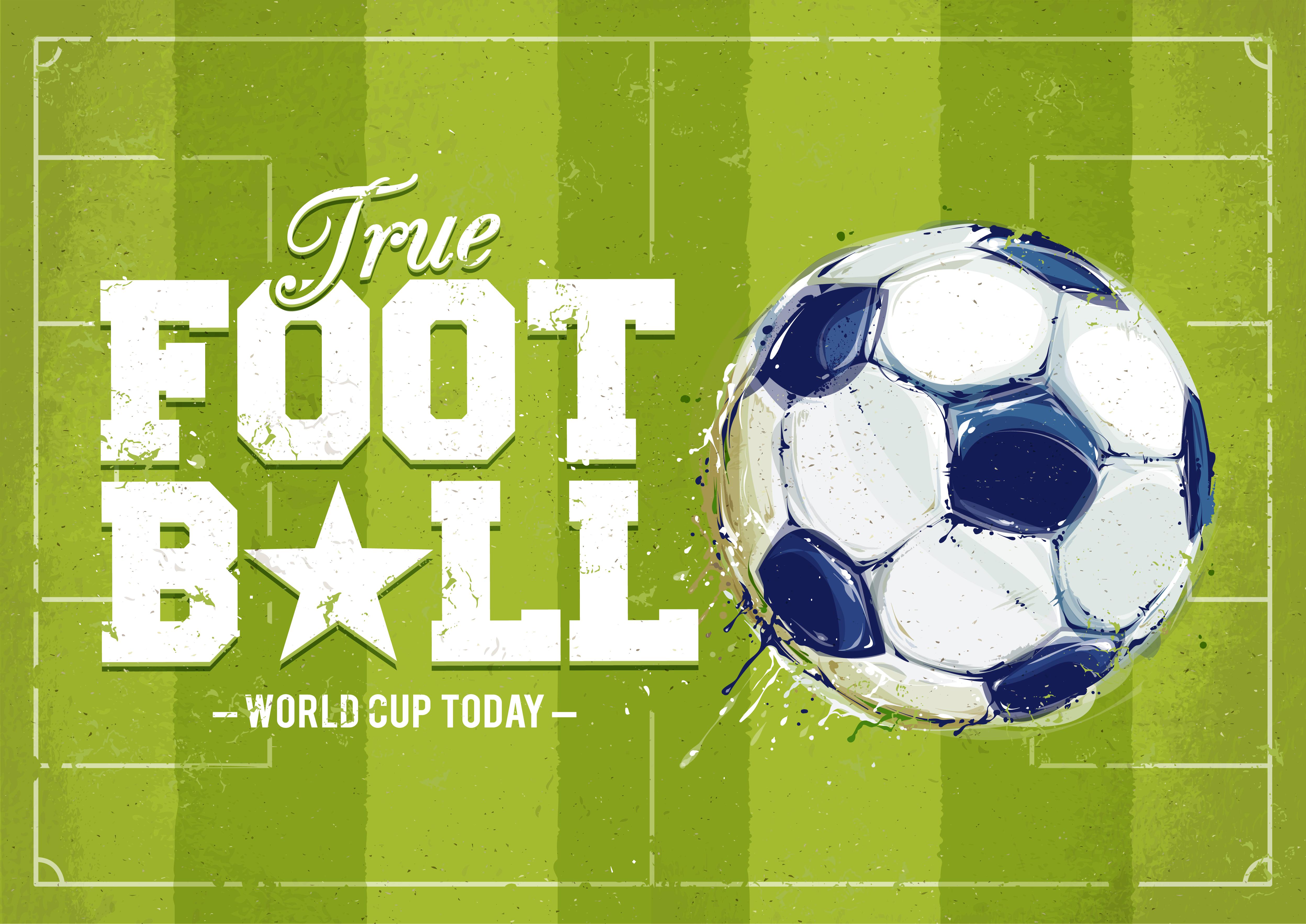 Deportes Pelotas Fondo Grunge: Cartel De Fútbol De Grunge