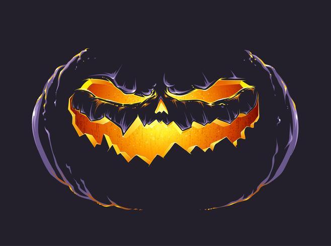 Calabaza de halloween vector