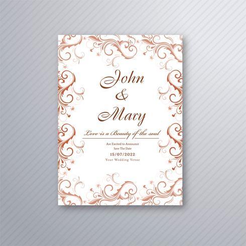 Mooie bruiloft uitnodigingskaart met kleurrijk bloemenontwerp