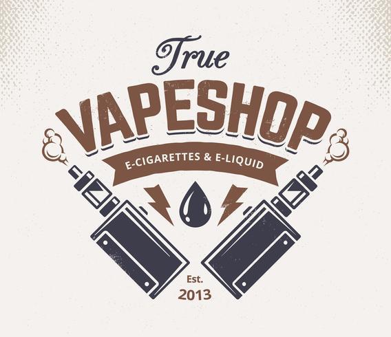 Vape Shop-embleem