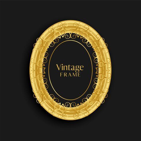 design vintage cornice dorata d'epoca di lusso