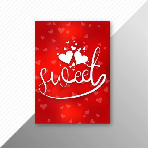 Fondo hermoso de la plantilla del folleto de la tarjeta del día de tarjeta del día de San Valentín