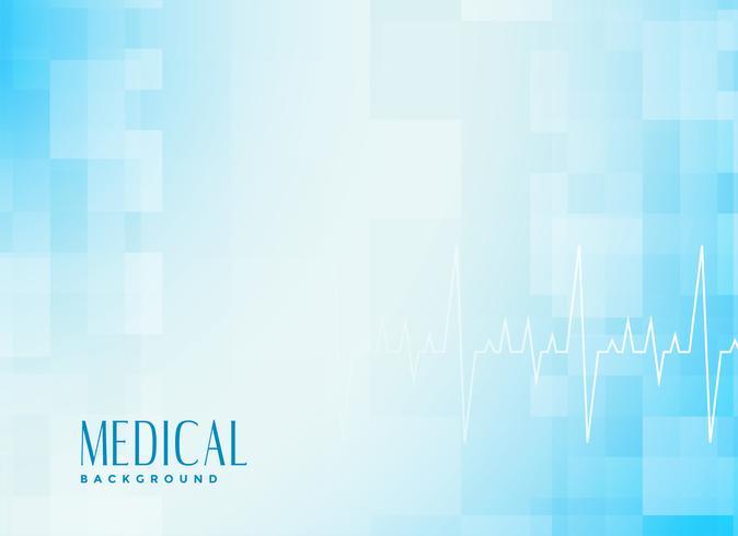 fundo azul de saúde médico com cardiógrafo