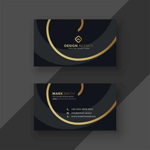diseño de tarjeta de visita oscura premium