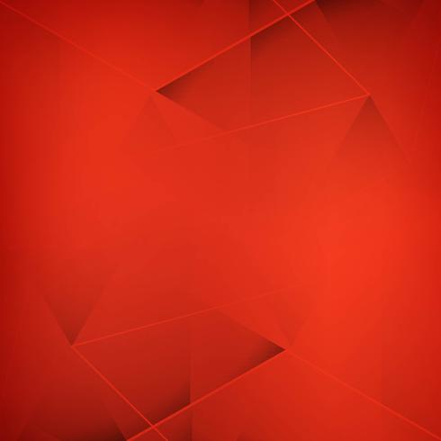 Abstract redl polygon background vector