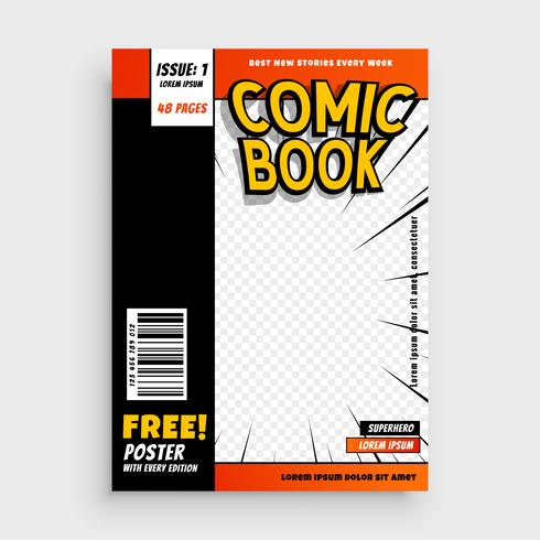 komisk tidskrift bokomslag layout design