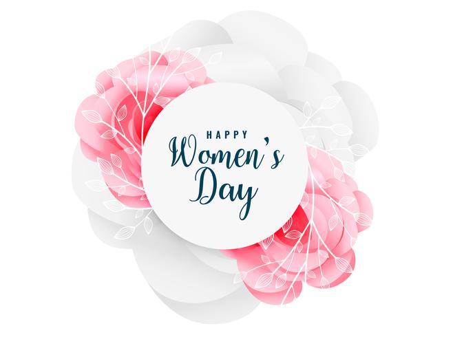 härlig glad kvinna dag blomma bakgrund