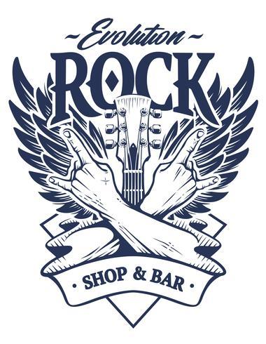 Emblema de rock vector art