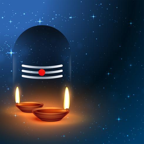 herre shiva shivling idol med dyrkan diya