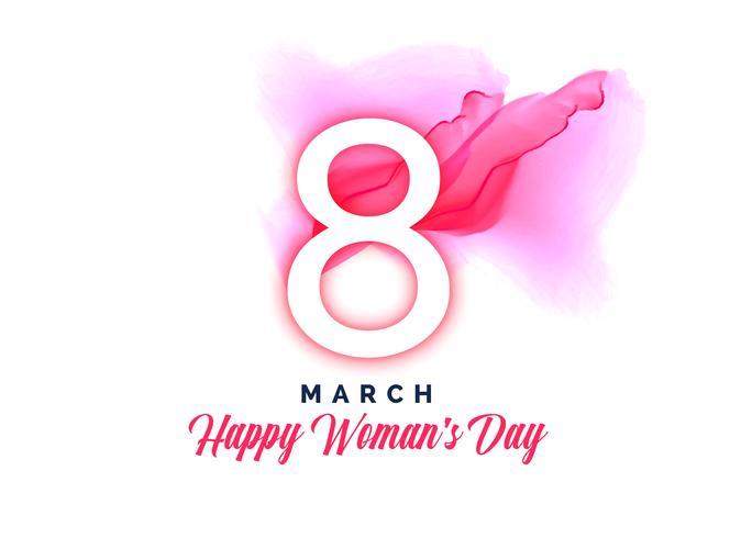 Fondo acuarela feliz día de la mujer