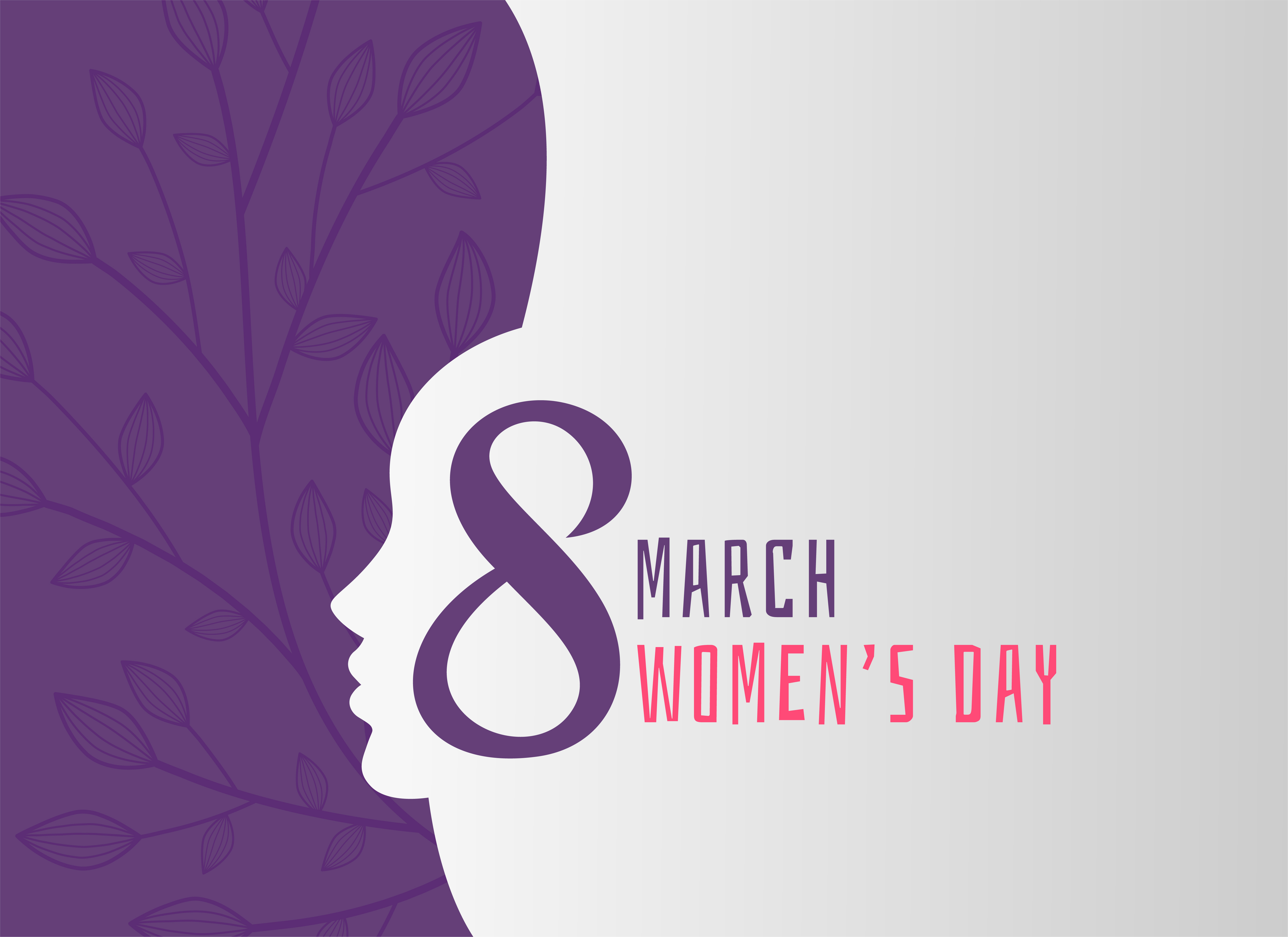 happy women's day holiday background with girl face ...