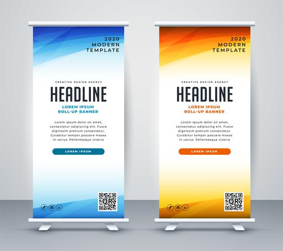 professionell roll up stand banner mall design