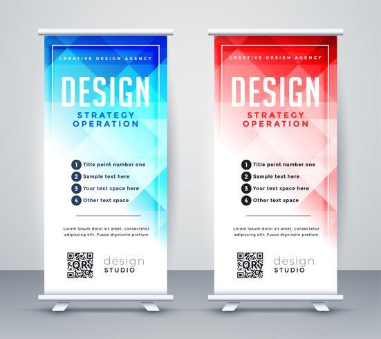 entreprise de style abstrait roll up banner template