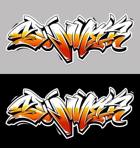 Zomer Graffiti Vector belettering