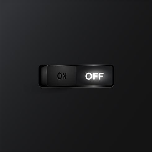 Interruptor realista (OFF), ilustración vectorial