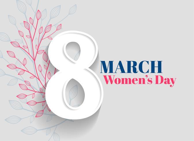 Fondo de saludo del día de la mujer feliz
