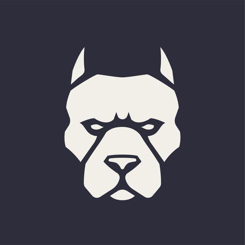 Icono de vector de mascota pitbull