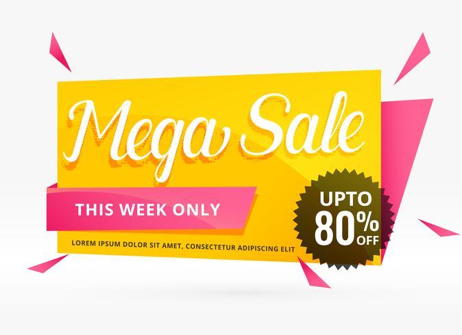 mega venda banner design para promoção
