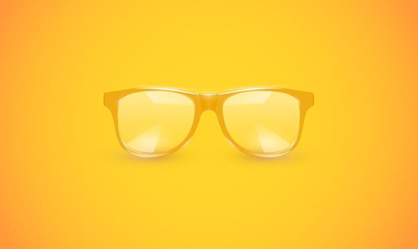 Óculos detalhados altos no fundo colorido, ilustração vetorial vetor