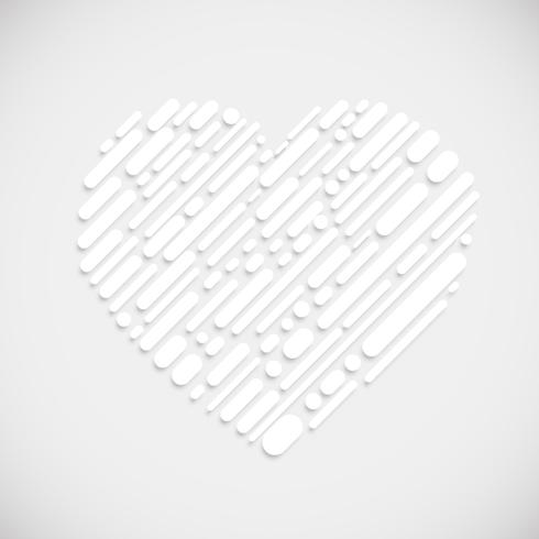 Weiße Form eines Herzens, Vektorillustration