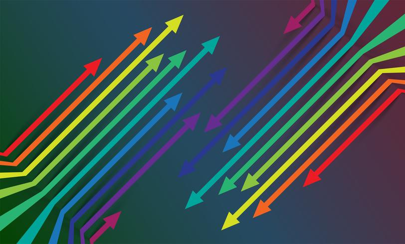 Colorful arrows background, vector