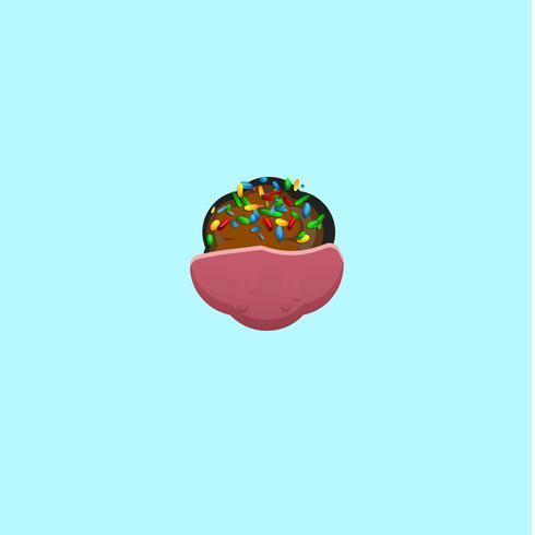 Carattere dolce da un fontset con, illustrazione vettoriale