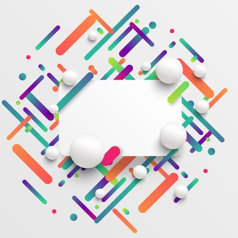 Modèle dynamique et coloré pour la publicité, illustration vectorielle
