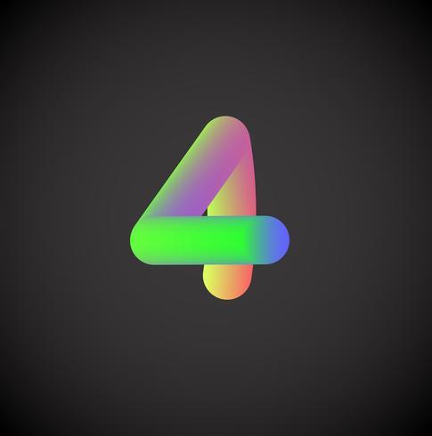Personnage coloré d'un jeu de polices, illustration vectorielle