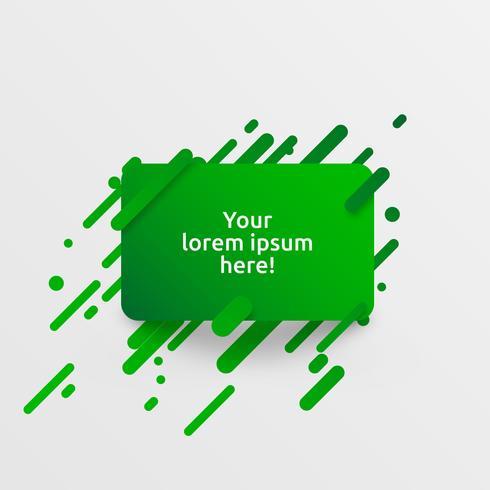 Modello verde dinamico per la pubblicità, illustrazione vettoriale