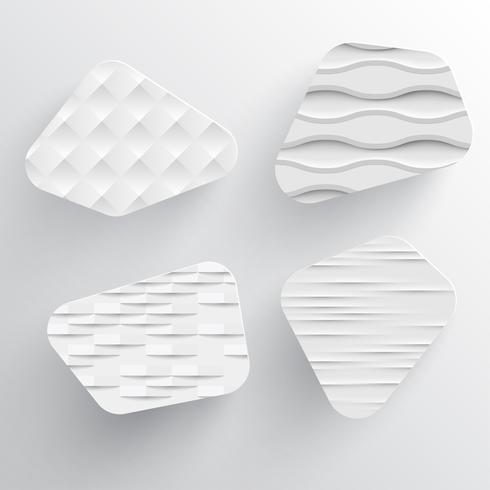 Modello dinamico bianco per la pubblicità, illustrazione vettoriale