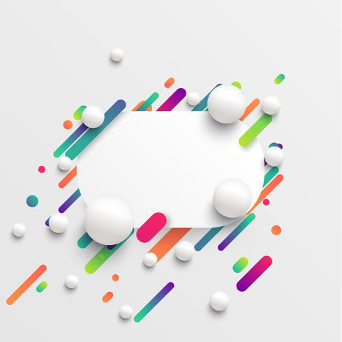 Dynamic and colorful template for advertising, vector illustration