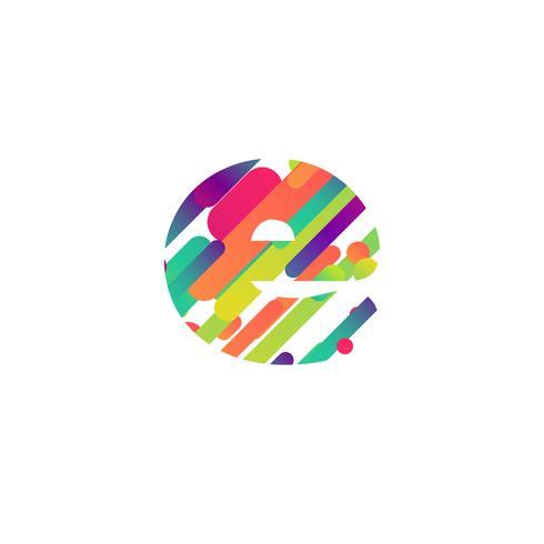 Personnage coloré d'une composition, illustration vectorielle