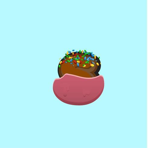 Doux personnage d'un jeu de polices avec, illustration vectorielle
