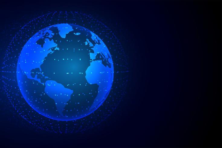 Fondo de tecnología tierra con conexión de red