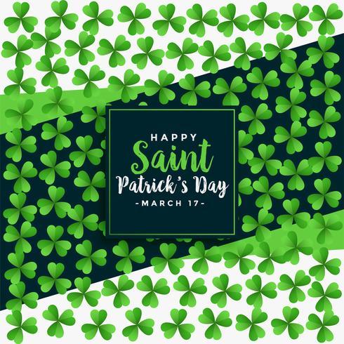 Saint Patricks Day trevo verde deixa o fundo oattern