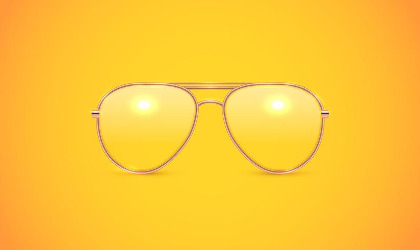 Realistic eyeglass, vector illustration
