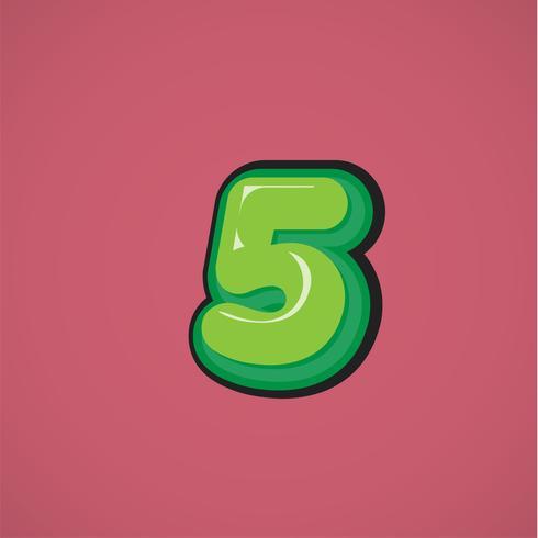 Carattere comico verde da un fontset, illustrazione di vettore